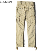 AIRGRACIAS Men Military Overalls Long Trousers Plus Size 29 40 High Quality Cotton Men S Army