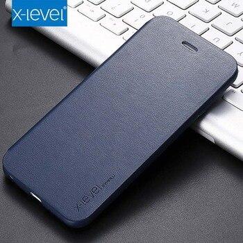 X-level Original Ultra Thin Slim Flip Case Leather TPU Book Cover For iphone 7 7Plus 8 8plus X 6 6SPlus XR XS XSMax Case KS0113