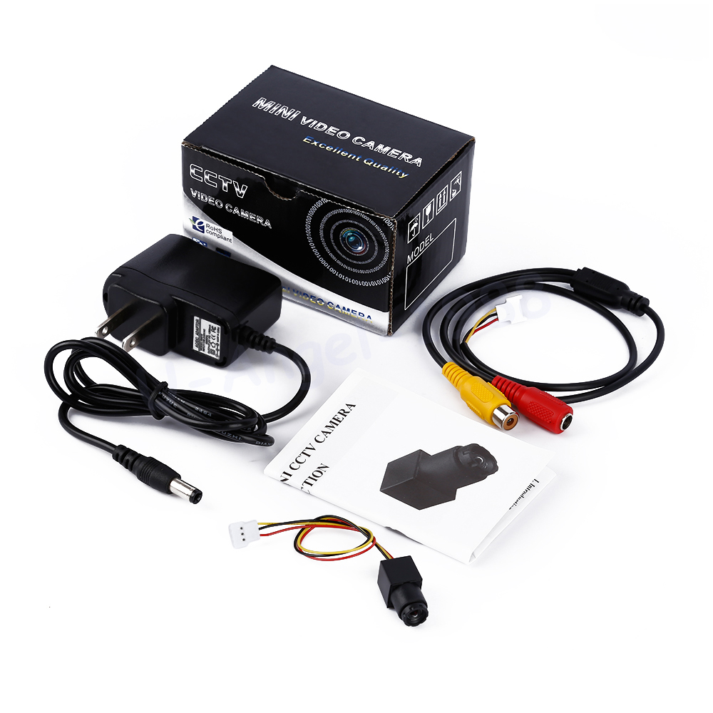 ФОТО 1pcs 520 TVL 90 Degree 0.008lux Mini Audio CMOS CCTV Security Camera NTSC