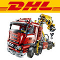 2017 New LEPIN 20013 1877Pcs Crane Truck Wrecker Model Building Kits Blocks Bricks Toys Christmas Gift With 8258