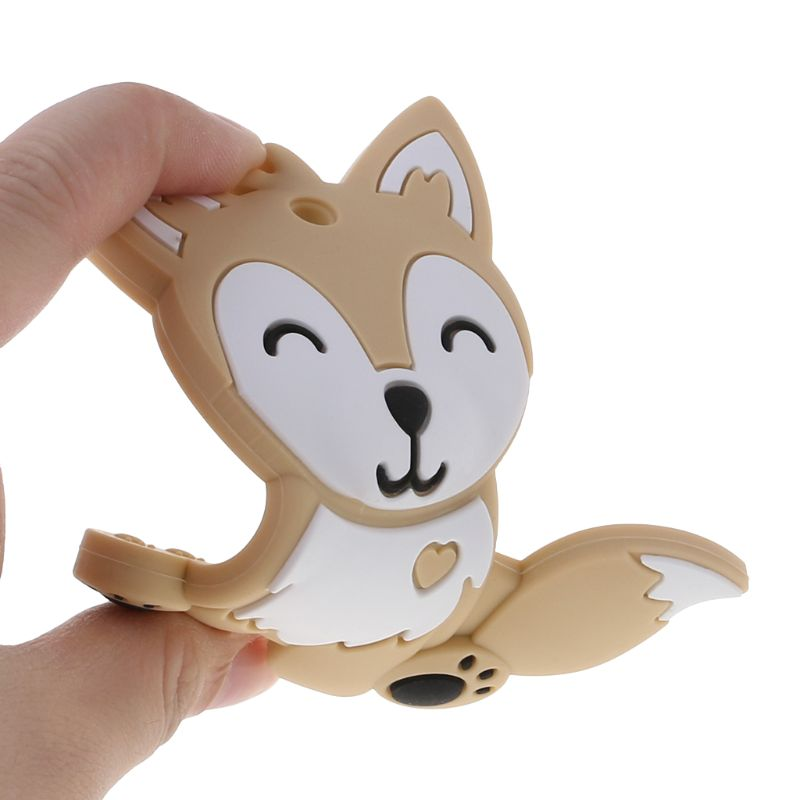 Baby Teether Food Grade Silicone DIY Necklace Fox Animal Teething Teeth Nursing