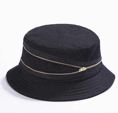 5f13a6d07c835 FOXMOTHER 2018 New Womens Black Zipper Bucket Hats For Mens-in Bucket Hats  from Apparel Accessories on Aliexpress.com