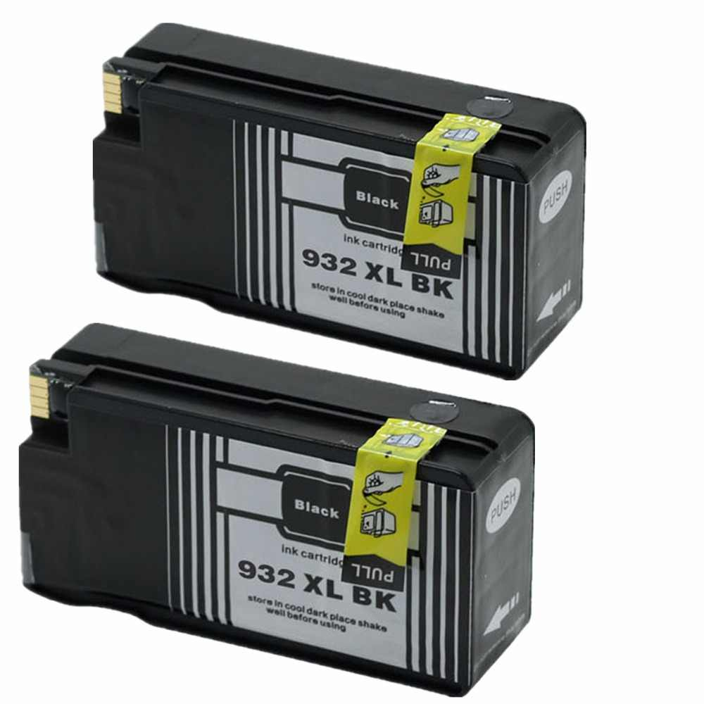استبدال الأسود 932 XL 932XL خراطيش الحبر ل HP932 HP932XL Officejet 6100 6600 6700 7110 7610