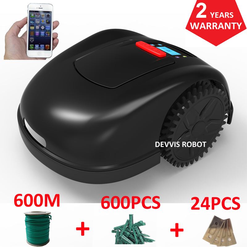 Two Year Warranty Wifi App Contorl Intelligent Robot Lawn Mower Grass Trimmer With 600m+600pcs Pegs+24pcs Blade To Ensure A Like-New Appearance Indefinably Tools