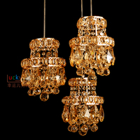 Crystal lamp three sho bar high end decoration hairdressin discount adjustable height Pendant Lights LO71915