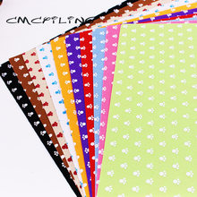 CMCYILING 10 Pcs/lot 30cm*30cm Printed Felt Fabric 1 MM Thickness Polyester Cloth For Needlework DIY Crafts Dolls Felt Sheet(China)