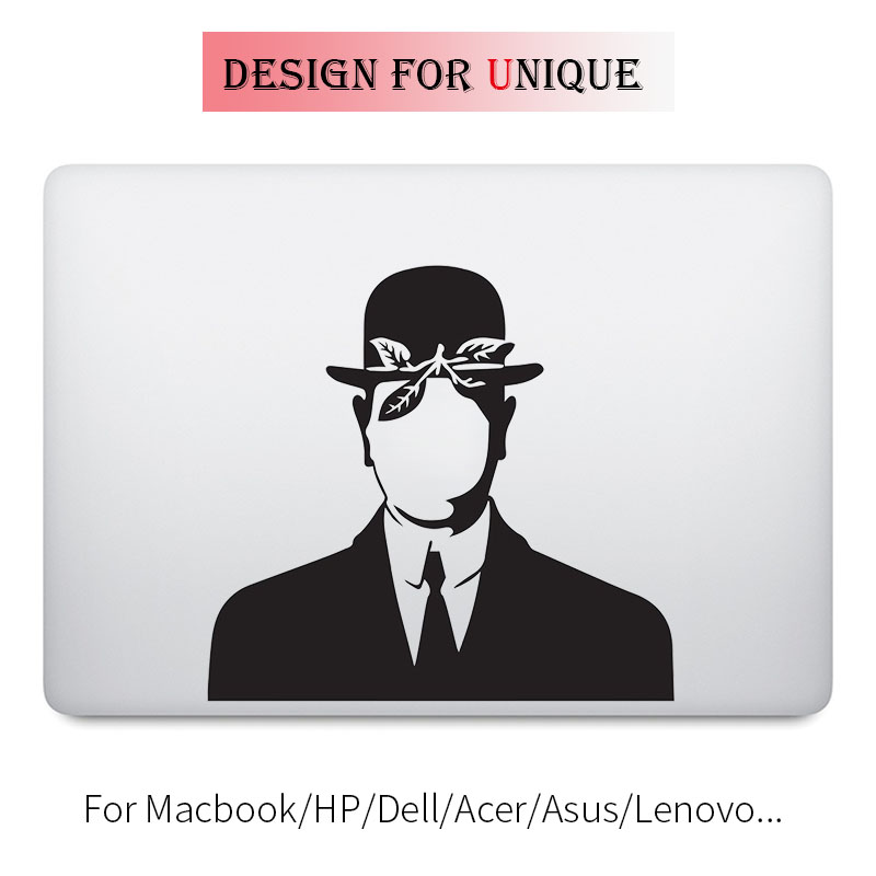 The Son of Man Magritte Laptop Decal Sticker for font b Apple b font font b
