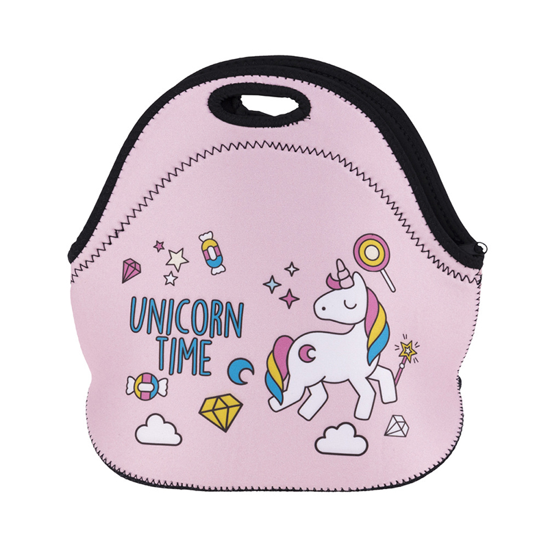 Yesello Rubber Unicorn lunch storage bag Portable Ice Bags Cooler Lunch Bag Leisure Picnic Packet Bento Box Food Thermal Bags