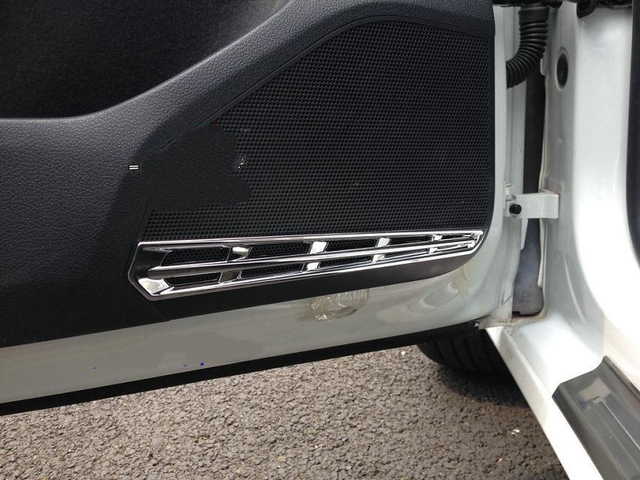 Car Sticker For Vw Golf 7 loudspeaker trims Abs Chrome high pitch loudspeaker Car Styling For Volkswagen Golf7 Accessories 2015