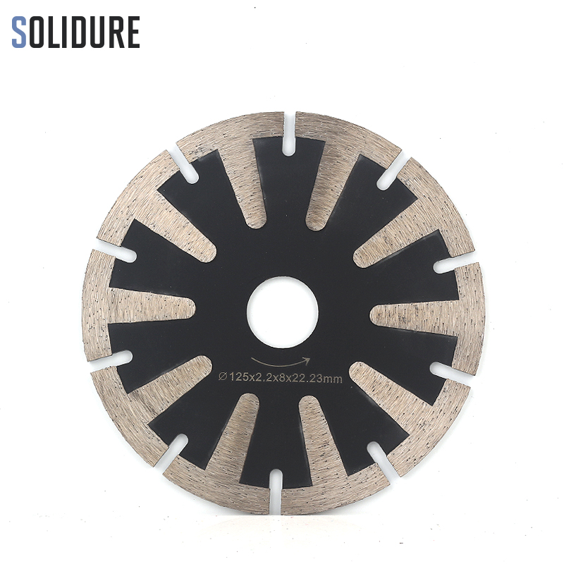 5inch 125mm Hot Sintered Cutting Grinding Blade With T-segment Teeth For Granite,marble,engineered Stone And Concrete