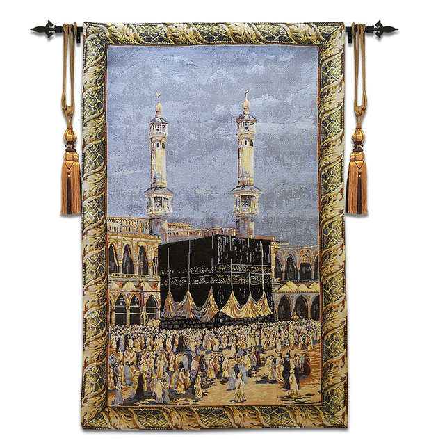 Mekka Mecca M Muslim Wall Carpet Tapestry Hanging Moroccan Decor Home Decoracion Tapestries