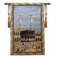 メッカメッカマッカイスラム教徒壁カーペットタペストリー壁掛けモロッコの装飾ホームdecoracionタペストリー