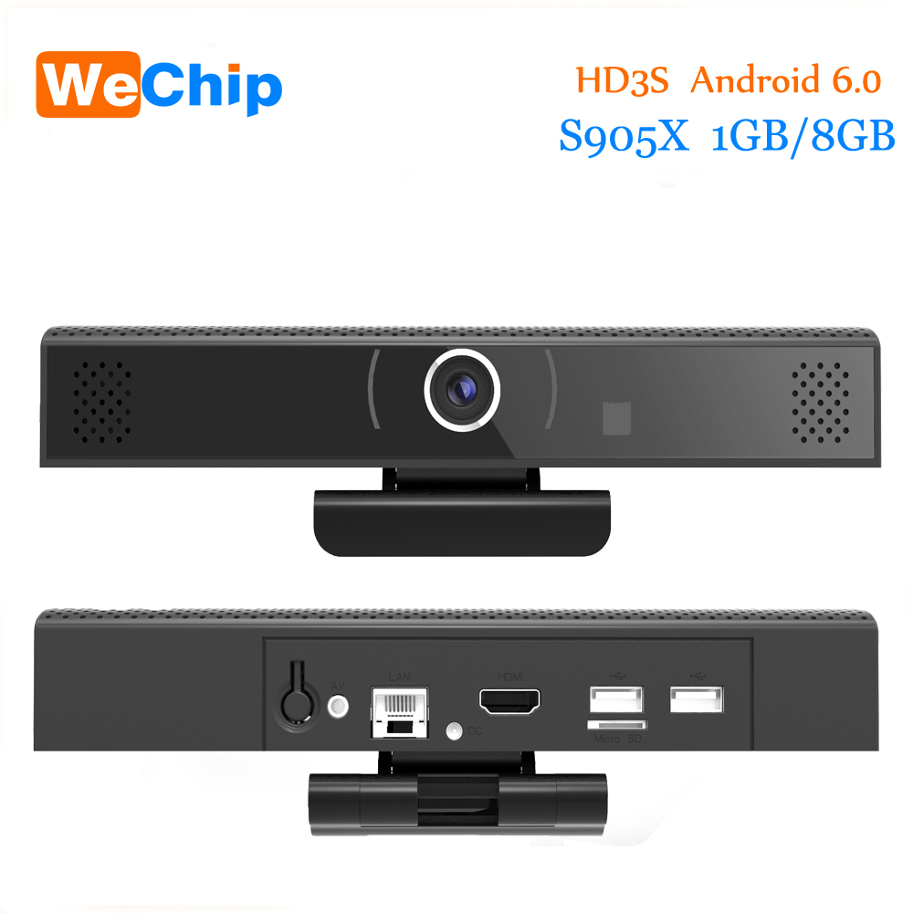 Speaker Camera Tv-Box Support Video-Call Skype WIFI Android-6.0 Smart HD3S 1GB 8GB 720P
