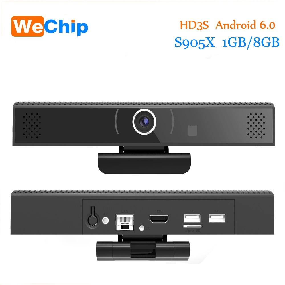 HD3S 1GB 8GB Android 6.0 Camera Allwinner Quad-core TV Box Smart 2.4 WIFI Built In DSP Mic Speaker Support 720P Skype Video Call