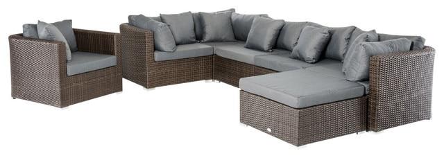 2015 Modern Rattan Furniture Patio Outdoor Sectional Sofa Set