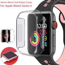 Ультра 3D ТПУ прозрачный тонкий мягкий чехол 40 мм 44 мм Защитная пленка для экрана Аксессуары для Apple Watch Series 4 iWatch