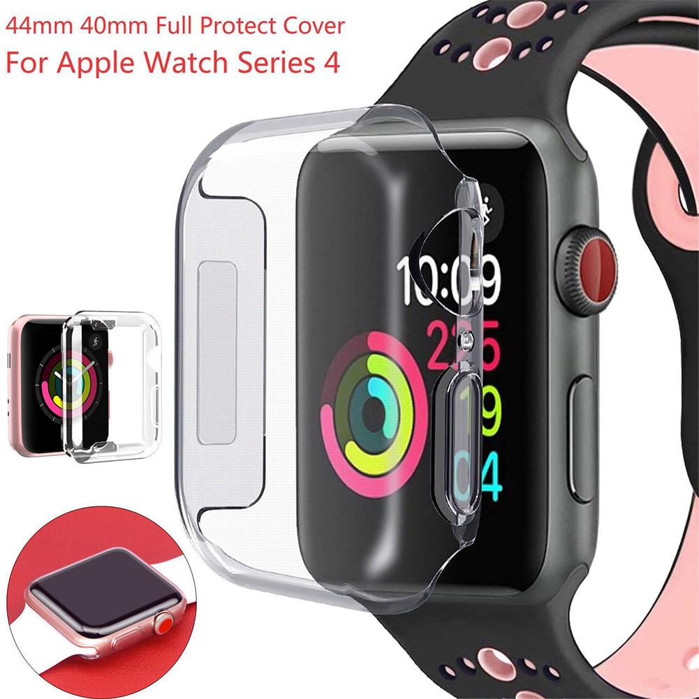 Ultra 3D TPU Clear Slim Soft Case Cover 40mm 44mm Cover Screen Protector Film Accessories for Apple Watch Series 4 iWatch