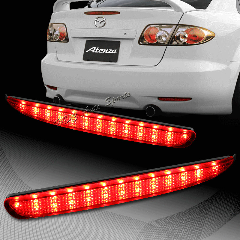 CYAN SOIL BAY 2003-2008 For Mazda 6 Red Lens LED Rear Bumper Reflector Brake Stop Light Lamps rear wheel hub for mazda 3 bk 2003 2008 bbm2 26 15xa bbm2 26 15xb bp4k 26 15xa bp4k 26 15xb bp4k 26 15xc bp4k 26 15xd