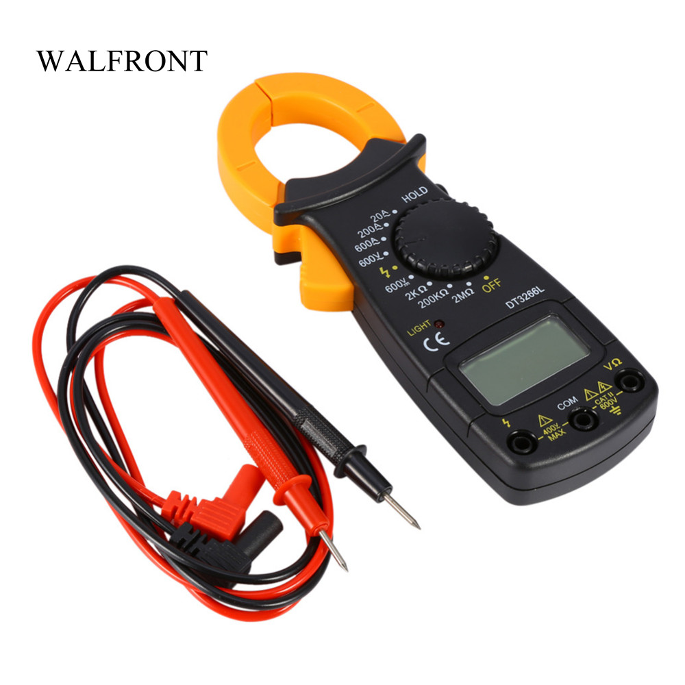US $7 82 33% OFF|WALFRONT Digital Multimeter Amper Clamp Meter AC/DC  Current Pincers Voltage Capacitor Resistance Tester with Test Leads  Tools-in