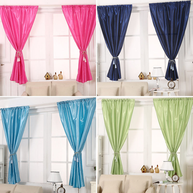 Fashion Solid Window Blinds Short Curtains Blackout For
