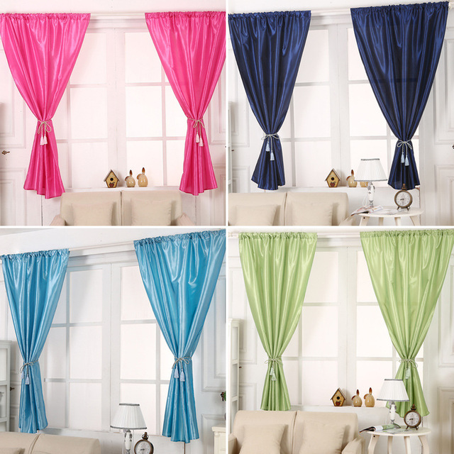 Fashion Solid Window Blinds Short Curtains Blackout For Cafe Hotel Home Bedroom Living Room Balcony Decoration