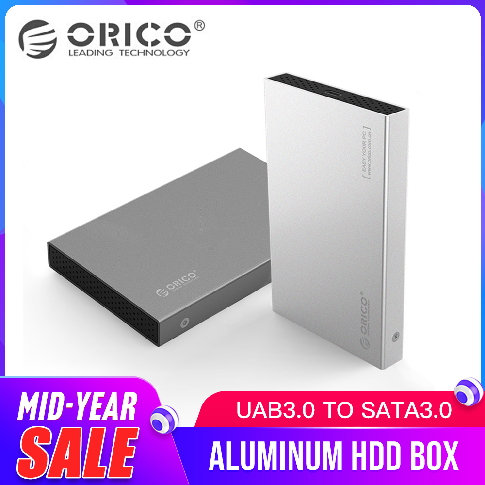 ORICO 2518S3 Alumínio 2.5 SATA Drive de Disco Rígido caso caixa Gabinete HDD Externo SSD USB3.0 5 4.8gbps Suporte 7mm & 9.5mm Cinza & Prata
