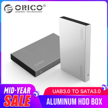 ORICO 2518S3 алюминиевый 2,5 SATA жесткий диск Корпус HDD SSD Внешний корпус USB3.0 5 Гбит/с поддержка 7 мм и 9,5 мм серый и серебристый