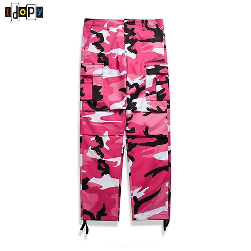 Idopy plein air hommes Camo Cargo Jeans pantalon lâche Style pantalon pour les jeunes et les hommes