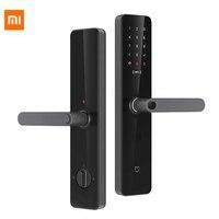 New 3D Xiaomi Mijia Smart Door Lock Smart lock Fingerprint Password NFC Bluetooth Unlock Detect Alarm Work Mi Home App Control