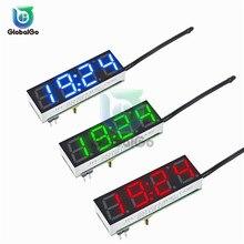 3In1 LED Digital Clock Temperature Voltage Module Board Time Thermometer Voltmeter Temp Voltage Meter Tester DC 5V-30V DS3231