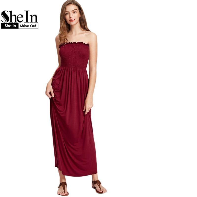 Cheap smocked maxi dresses