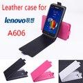 Alta qualidade new original para lenovo a606 leather case capa flip para lenovo a 606 case tampa do telefone em estoque