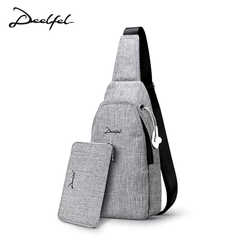 DEELFEL Handbags Mens Chest Bag 2018 New Trend Sports Leisure Shoulder Messenger Bag Oxf ...