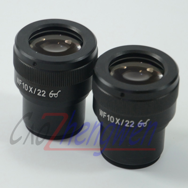 лучшая цена FYSCOPE Super Wide field WF10x -22mm Adjustable Eyepiece For Stereo Microscopes with 30mm Dia Eyepiece tube