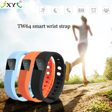 Sizzling sale Bluetooth LCD Sensible Band TW64 Watch Wristband Waterproof Smartphone Health Tracker for iOS Android Smartphone