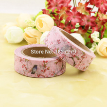 1pcs pink Clubs Flower, birds  Washi Tape Floral Masking Tapes Decorative Stickers Diary Deco Scrapbooking Sticker