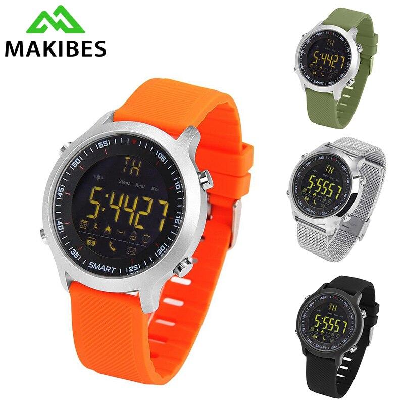 imágenes para Makibes EX18 Hombres Reloj Smartwatch Inteligente Usable Dispositivos Inteligentes Relojes Electrónica para iOS para Android 50 m Impermeable