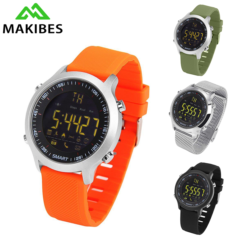 Makibes EX18 Smart Watch Men Smartwatch Wearable Devices Smart Watches Electronics for iOS for Android 50m Waterproof makibes ex18 smart watch orange