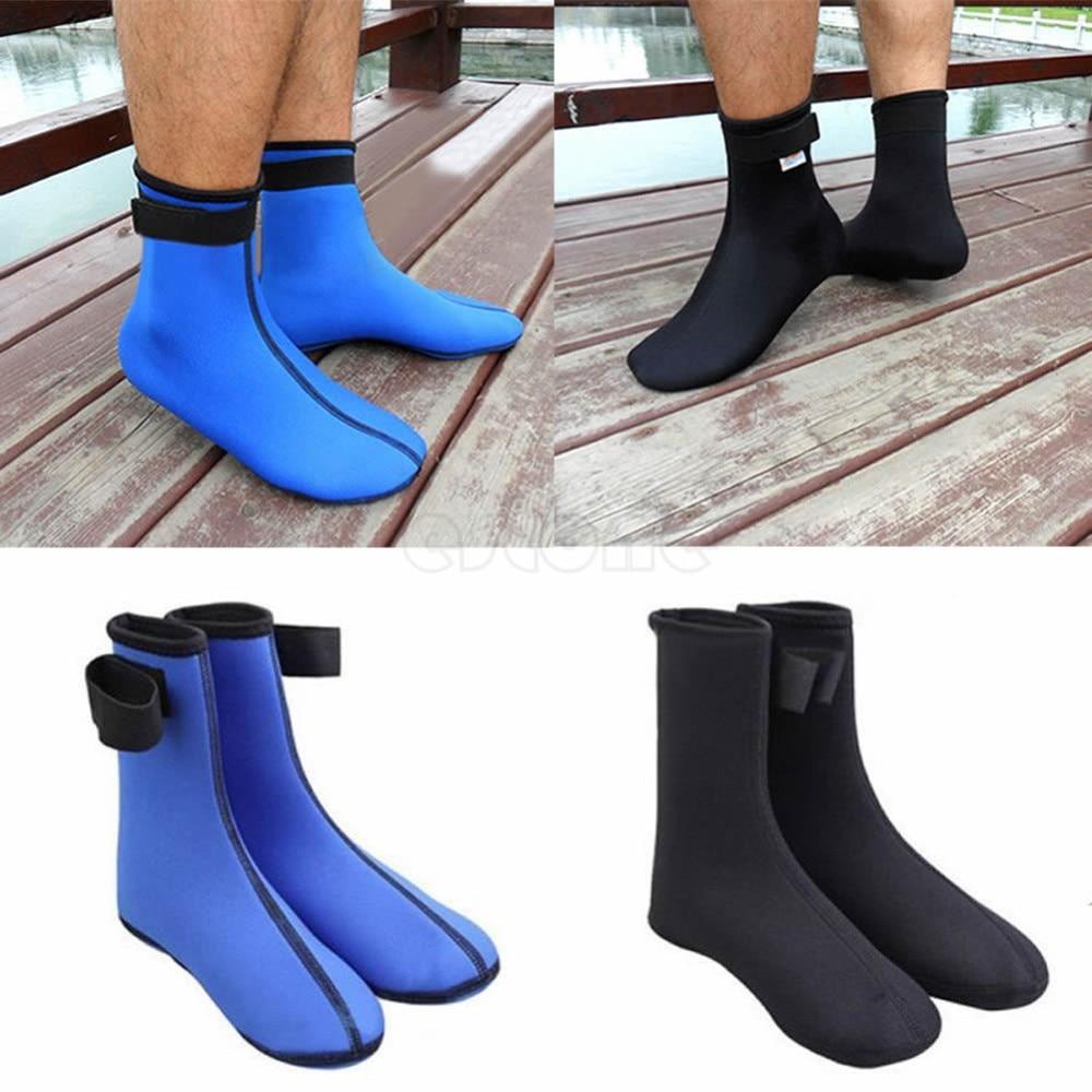 3mm Neoprene Diving Scuba Swimming Beach Socks Spearfishing Snorkel Boots Blue