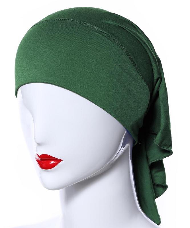 Image 2 - 20 Colors Muslim Women Soft Bone Ninja Inner Hijab Caps Islamic  Under scarf Hats Islamic Head Cover Chemo Cancer Headwear Wrap NIslamic  Clothing