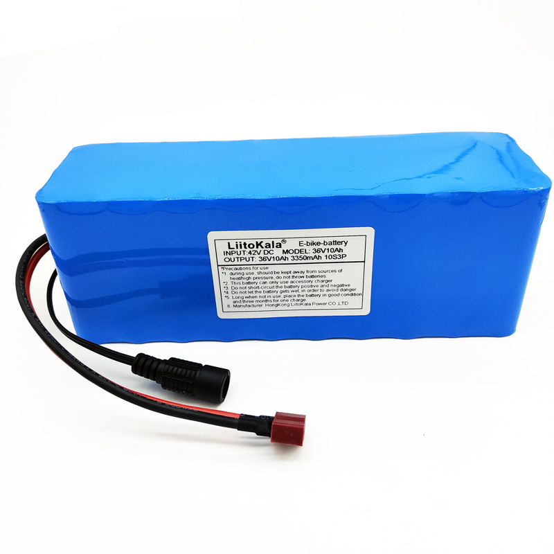 LiitoKala 36 v 10Ah 10S3P 18650 batterie Rechargeable, moto modifiée, chargeur de batterie de véhicule électrique li-lon + 36 V 2A char - 4