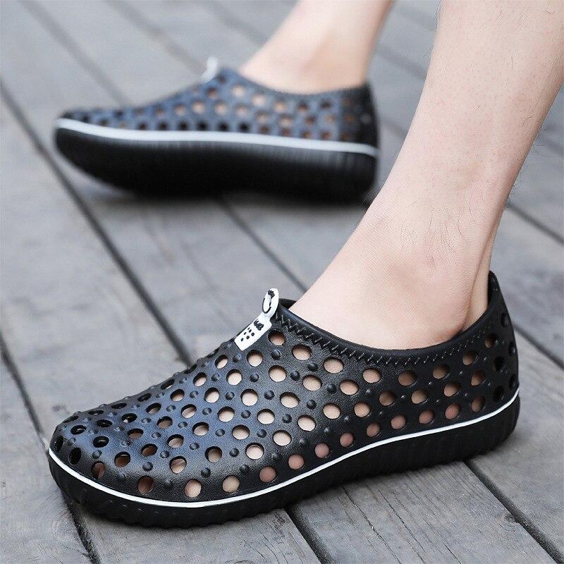 2018 Summer Mens Garden Clogs Slippers EVA Casual Fashion Non Slip Sandals For Men, Mens Lightly Slipper Mule Clog Big Size