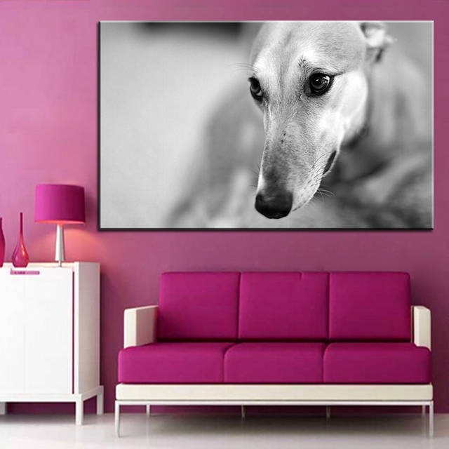 Large size Printing Oil Painting greyhound Wall painting Decor Wall ...
