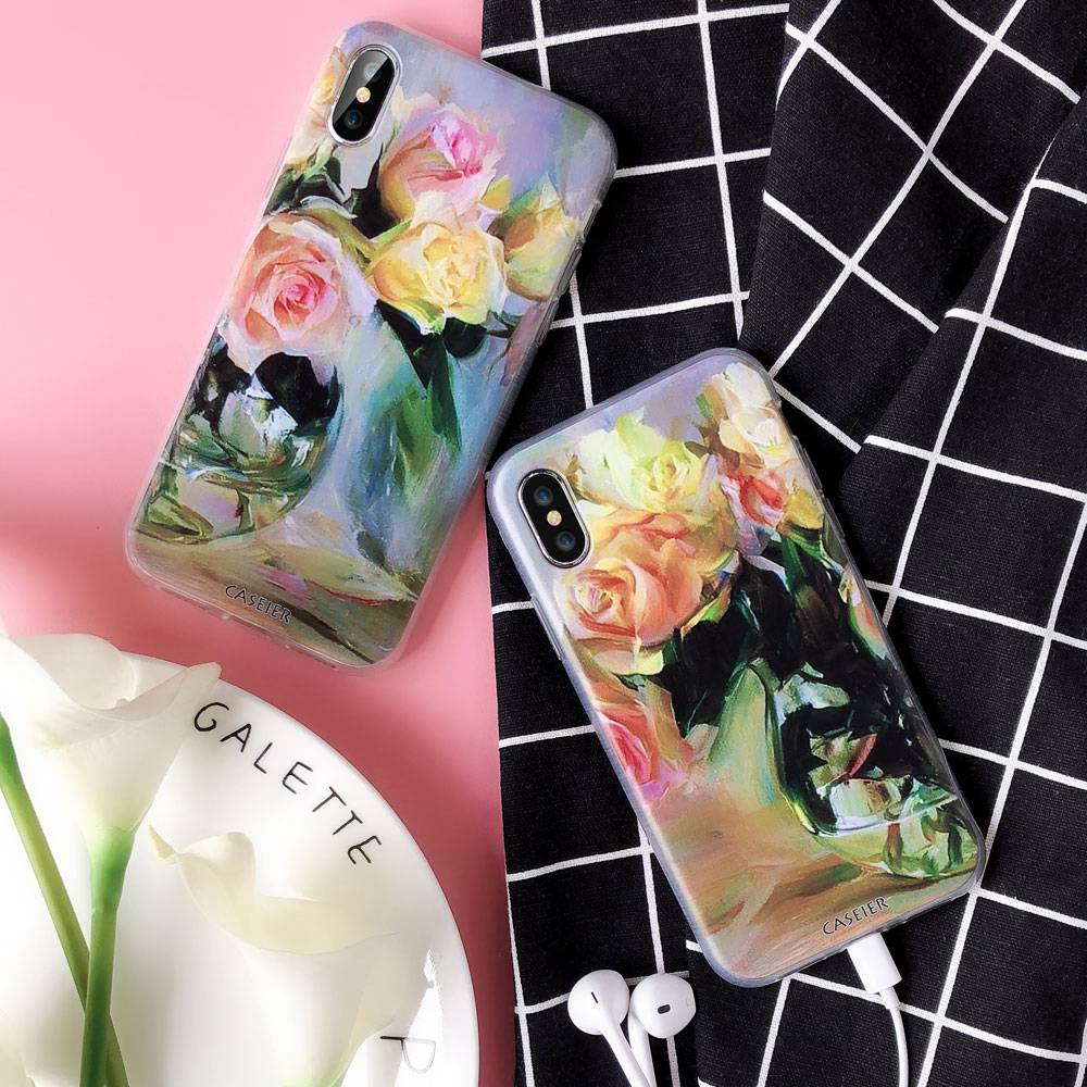 CASEIER Watercolor Painting Phone Case For Samsung Galaxy A3 A5 A7 J3 J5 J7 2016 2017 Soft TPU Case For Galaxy S9 S8 Plus Funda in Half wrapped Cases from Cellphones Telecommunications