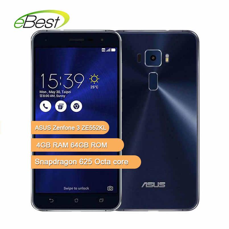Оригинальный мобильный телефон ASUS Zenfone 3 ZE552KL 5,5 дюймов Snapdragon 625 Octa core ram 4 Гб rom 64G 16.0MP камера Android мобильный телефон