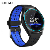 Chigu F5 GPS Smart Watch Heart Rate Waterproof with Camera Android Smartwatch Men Sport Watch Support SIM Card Fitness Tracker