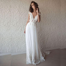 Lorie сексуальное женское длинное белое пляжное свадебное платье
