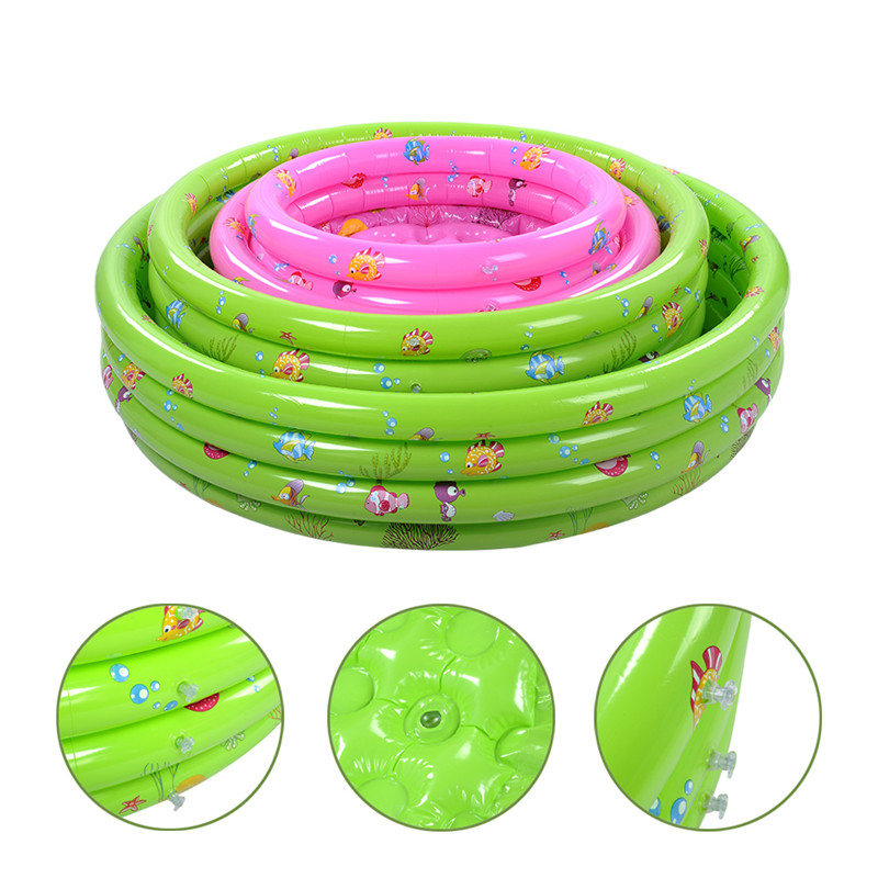 150cm Shower Tubs For Child Pool Portable Baby Inflatable Pool Three Rings Trinuclear Swimming Paddling Pool Children Bath Tub environmentally friendly pvc inflatable shell water floating row of a variety of swimming pearl shell swimming ring