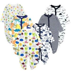 Image 5 - 6 יח\חבילה תינוק Rompers 2019 ארוך שרוול 100% כותנה סרבל יילוד בגדי Roupas דה bebe בני בנות סרבל & בגדים