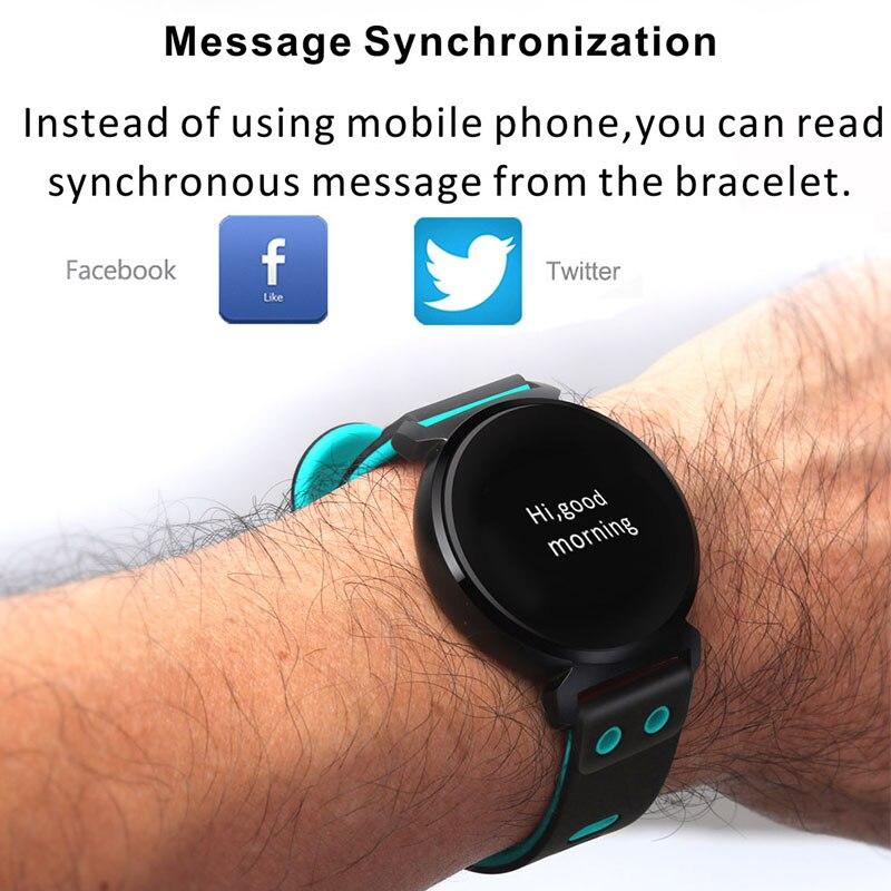 Hommes moniteur de fréquence cardiaque montre intelligente podomètre Sport Bracelet étanche homme montre-Bracelet femmes Intelligent Bluetooth Smartwatch